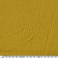 Tissu double gaze de coton coloris curry 20 x 140 cm