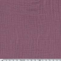 Tissu double gaze de coton coloris figue 20 x 140 cm