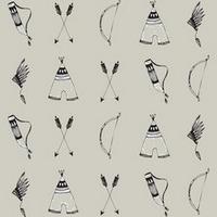 DERNIER COUPON Jersey Arcs et flèches 1m10 x 150 cm