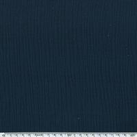 Tissu double gaze de coton unie coloris marine 20 x 135 cm