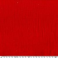 COUPON double gaze de coton coloris rouge 98 x 135 cm