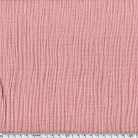 Tissu double gaze de coton unie coloris blossom 20 x 135 cm