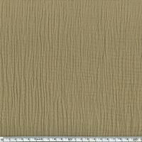 Tissu double gaze de coton unie coloris crème de café 20 x 135 cm