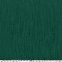 Tissu double gaze de coton unie coloris forêt 20 x 135 cm