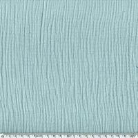 Tissu double gaze de coton unie coloris mint 20 x 135 cm