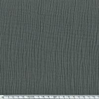 Tissu double gaze de coton unie coloris taupe 20 x 135 cm