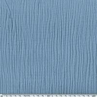 Tissu double gaze de coton unie coloris bleu maya  20 x 135 cm