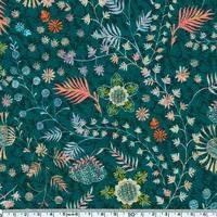DERNIER COUPON Liberty Crochet Meadow vert émeraude coloris C 22 x 137 cm