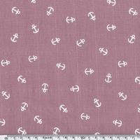 Tissu lange ancres blanches coloris bergamote 20 x 140 cm