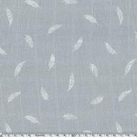 Tissu lange plumes blanches coloris brume 20 x 140 cm
