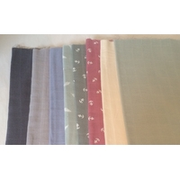 Lot de 8 coupons de lange de 30 x 140 cm (lot 2)