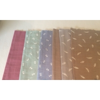 Lot de 6 coupons de lange de 30 x 140 cm (lot 2)