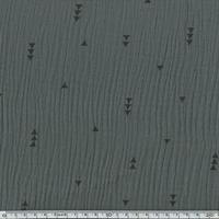 Tissu double gaze de coton triangles coloris taupe 20 x 140 cm