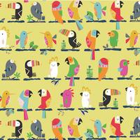 Tissu Club Tropicana Perroquets alignés 20 x 110 cm