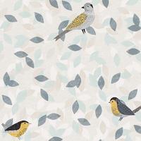 Tissu Bird Song Birds Oiseaux 20 x 110 cm