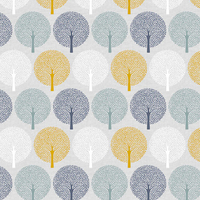 Tissu Bird Song Trees Arbres 20 x 110 cm
