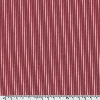 Tissu rayure chemise coloris rouge 20 x 140 cm