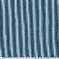 Toile Jean denim rayé bleu et blanc 20 x 140 cm