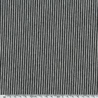 Toile épaisse OshKosh denim rayé denim noir et blanc 20 x 140 cm