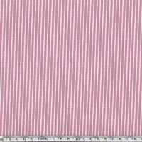 Toile OshKosh denim rayé rose et blanc 20 x 140 cm