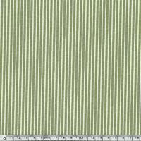 Toile OshKosh denim rayé vert et blanc 20 x 140 cm
