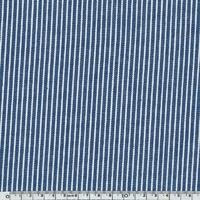 Toile OshKosh denim rayé bleu et blanc 20 x 140 cm
