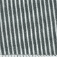 Toile OshKosh denim rayé noir et blanc 20 x 140 cm