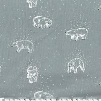 Tissu Molleton Ours polaire x 140 cm