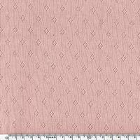Tissu jersey ajouré 100% coton coloris rose poudré 20 x 140 cm