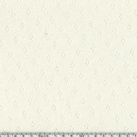 Tissu jersey ajouré 100% coton coloris crème 20 x 140 cm