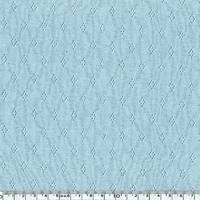Tissu jersey ajouré 100% coton coloris bleu clair 20 x 140 cm