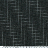 DERNIER COUPON Jersey poly-viscose grill fond gris 30 x 140 cm