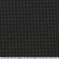 Jersey poly-viscose grill fond noir 20 x 140 cm