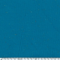 Sweat moucheté bleu 20 x 140 cm