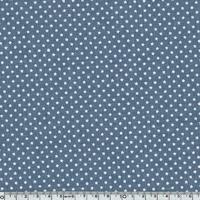 Tissu mini star encre blanche coloris Denim 20 x 140 cm