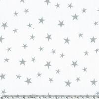 Tissu Constellation encre argent coloris Chantilly 20 x 140 cm