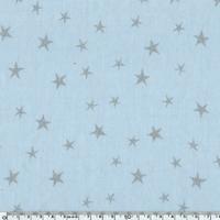Tissu Constellation encre argent coloris Glaçon 20 x 140 cm
