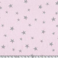 Tissu Constellation encre argent coloris Litchi 20 x 140 cm
