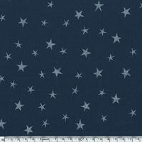 Tissu Constellation encre argent coloris marine 20 x 140 cm