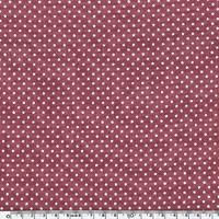 Lin lavé mini star encre blanche coloris beaujolais 20 x 140 cm
