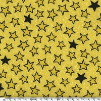 DERNIER COUPON Tissu Softshell déperlant étoiles 30 x 140 cm