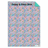 Feuille de papier Liberty Poppy Daisy bleu