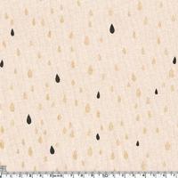 Pluie d'or Black, jersey coton nude 20 x 140 cm
