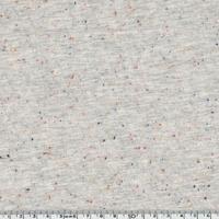 Sweat gris clair chiné moucheté rouge bleu 20 x 140 cm