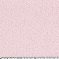 Jersey matelassé rose clair 20 x 150 cm