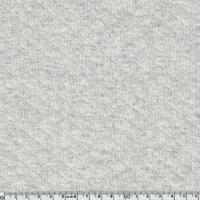 Jersey matelassé gris chiné clair 20 x 150 cm