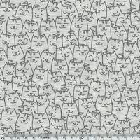 Jersey Cache-cache chat gris 20 x 140 cm