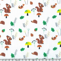 Tissu Dans la forêt par Marion Billet, 20 x 140 cm