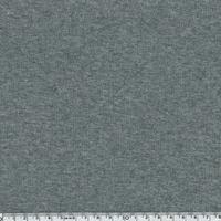 Tissu Molleton gris chiné envers minky 20 x 140 cm