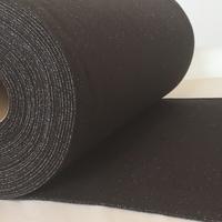 Bord côte noir lurex argent 20 x 68 cm